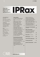 (c) by IPRax, Verlag Gieseking